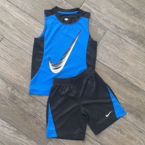Nike Logo tank and shorts athletic outfit